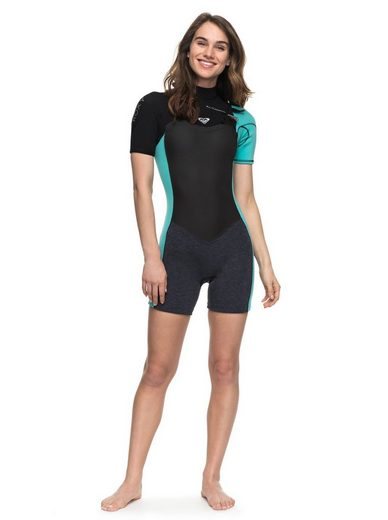 Roxy Chest Zip Kurzarm-Spingsuit 2/2mm Performance