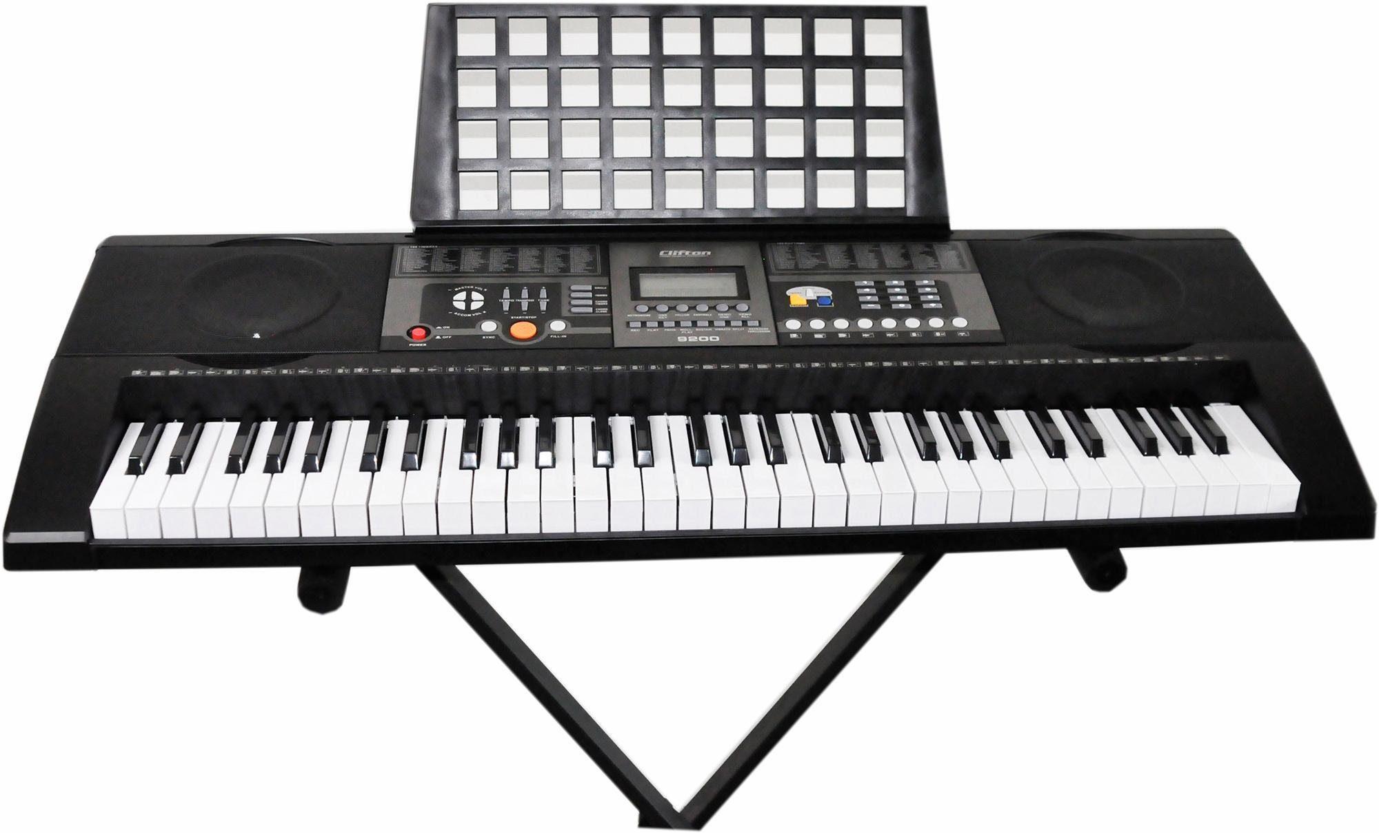 Clifton Elektronisches Keyboard mit Ständer, »61-Tasten Keyboard mit LC-Display«