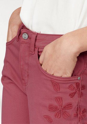 Tailor Bein Mit Am Toller Tom »alex« Blütenstickerei Ankle jeans vqxqpUwa