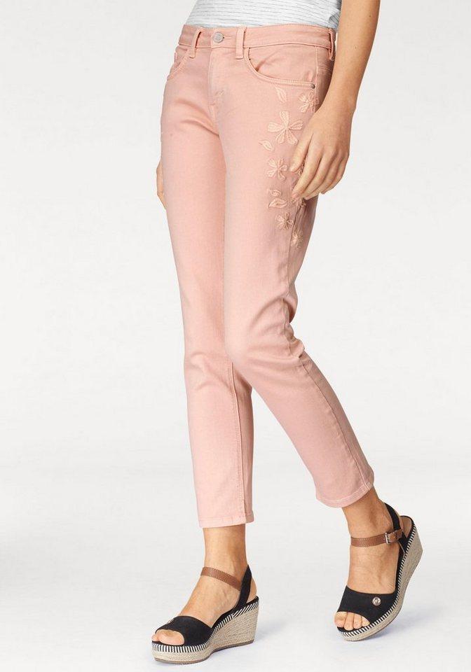 tom tailor ankle jeans alex mit toller bl tenstickerei. Black Bedroom Furniture Sets. Home Design Ideas