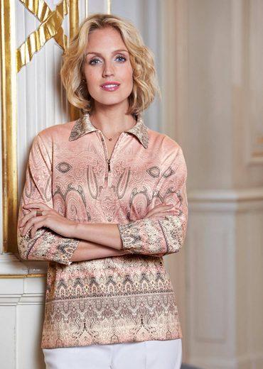 Atelier Goldner Schnitt 3/4 Arm-Pullover, in sportivem Look