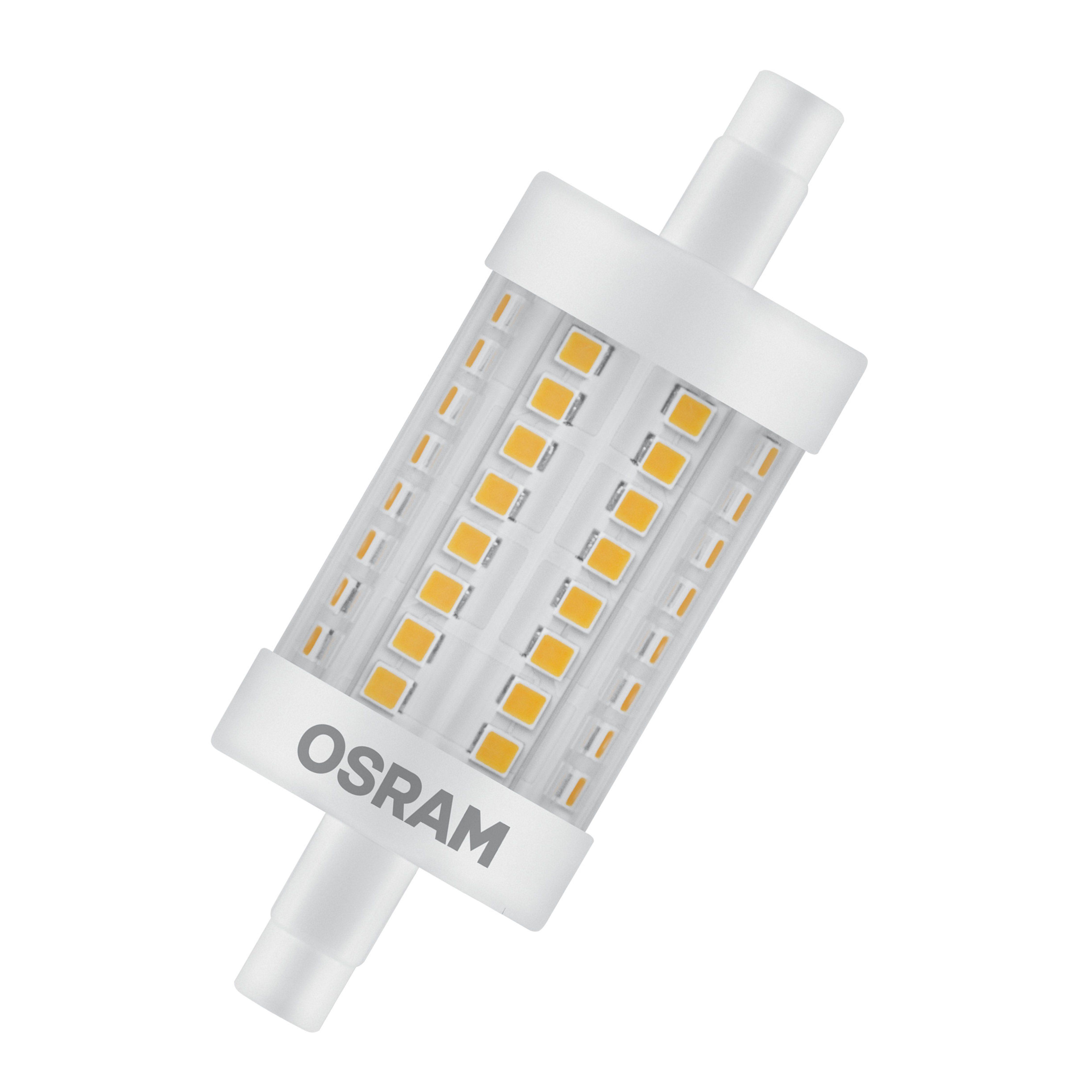 Osram LED SUPERSTAR LINE R7s, LED-Lampe, dimmbar »SST LINE 78.0 mm 75 8 W/827 R7s«