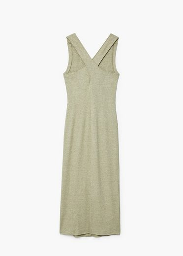 MANGO Kleid aus geripptem Strickjersey