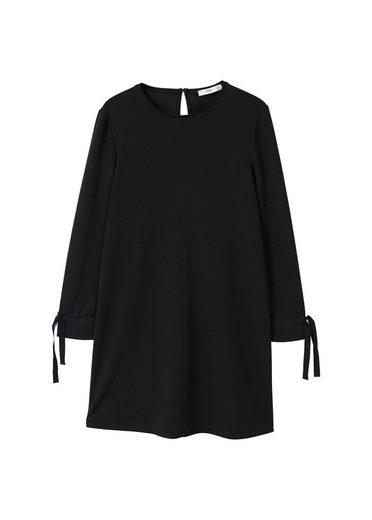 MANGO Kleid mit Kontrastärmeln