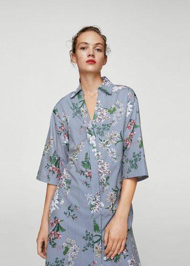 MANGO Hemdkleid mit Blumenmuster