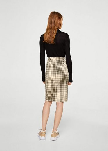 Mango Pencil Skirt With Slit