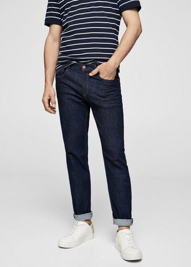 Mango One Sim Fit Jeans With Dark Jan Waschung