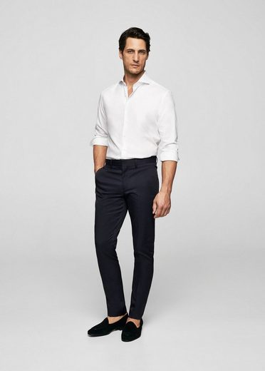 MANGO MAN Slim Fit-Baumwollhemd Tailored