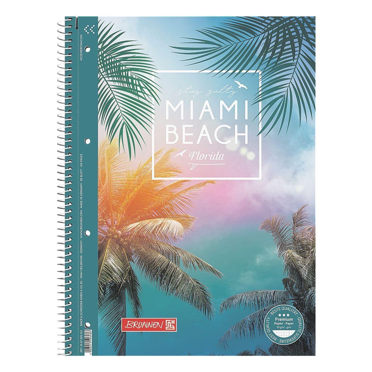 Brunnen Collegeblock A4 kariert »Miami Beach«