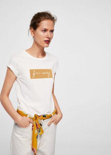 MANGO T-Shirt mit Schriftzug far away