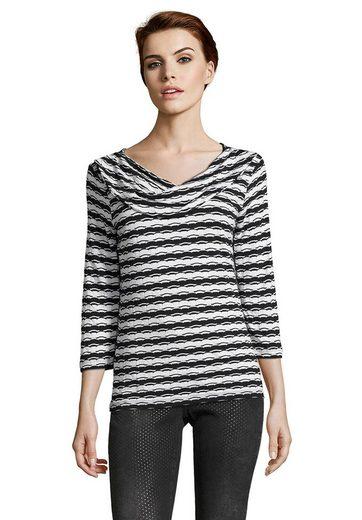 Betty Barclay Shirt With Trendy Stripe Pattern
