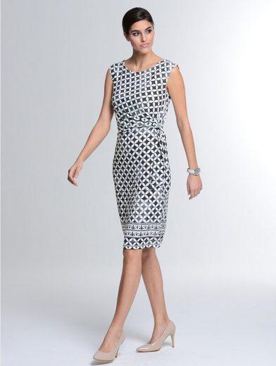 Alba Moda Kleid im Mosaik-Dessin
