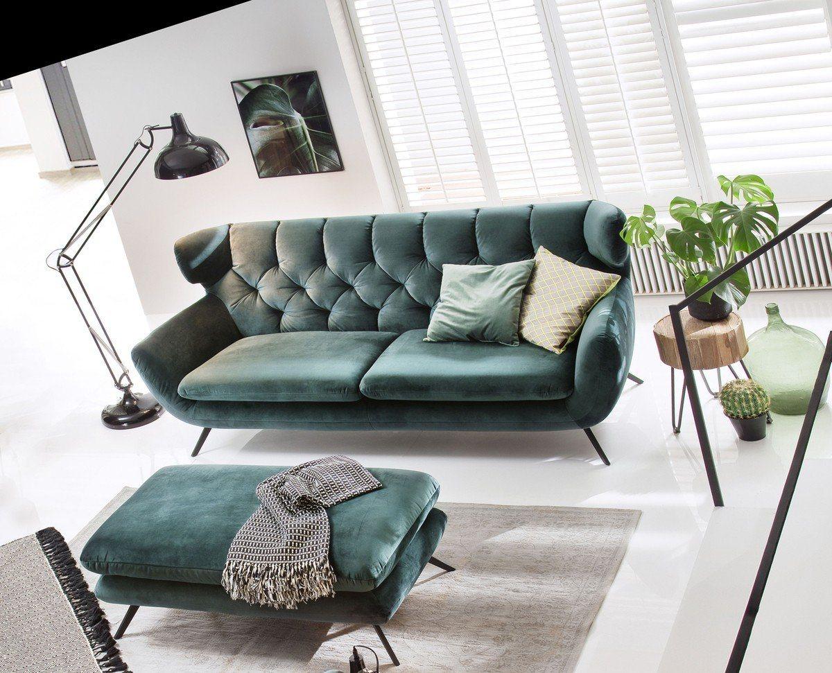 Kasper-Wohndesign Sofa Stoff smaragd-grün »CHARME« - Kasper-Wohndesign
