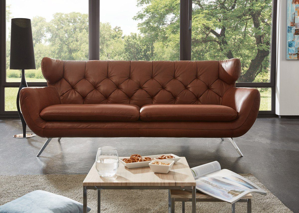Kasper-Wohndesign Sofa Leder braun »CHARME«