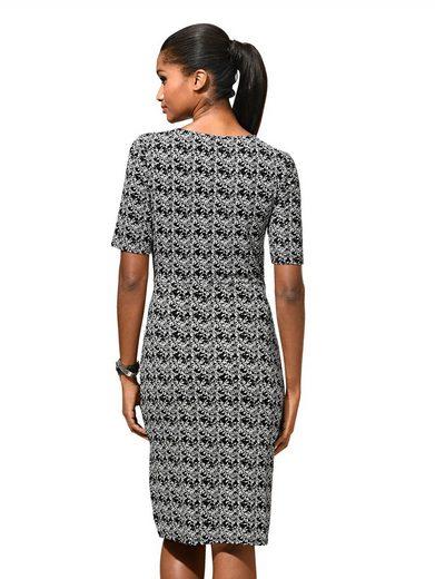 Alba Moda Kleid mit floralem Allover-Druck