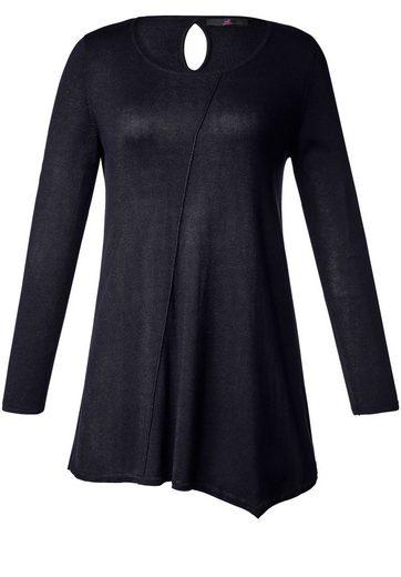 Emilian Lay Knitted Sweaters Long-jumper, Asymmetrical Hem