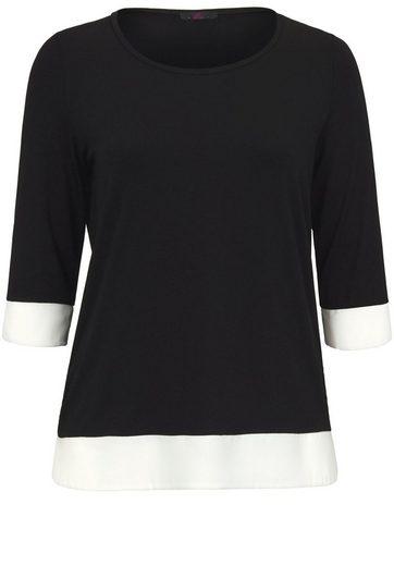 Emilia Lay T-Shirt mit Rundhalsausschnitt, Chiffon-Kanten