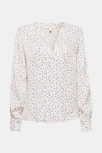 ESPRIT Fließende Print-Bluse mit feinem Schimmer