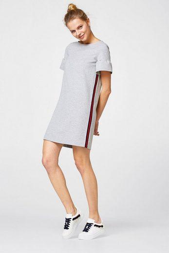 EDC BY ESPRIT Sweatkleid mit seitlichen Streifen