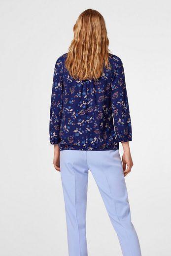 EDC BY ESPRIT Zarte Bluse mit Streifen-Blüten-Print