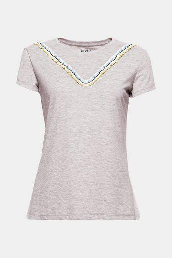 EDC BY ESPRIT Softes T-Shirt mit Rüschen-Detail