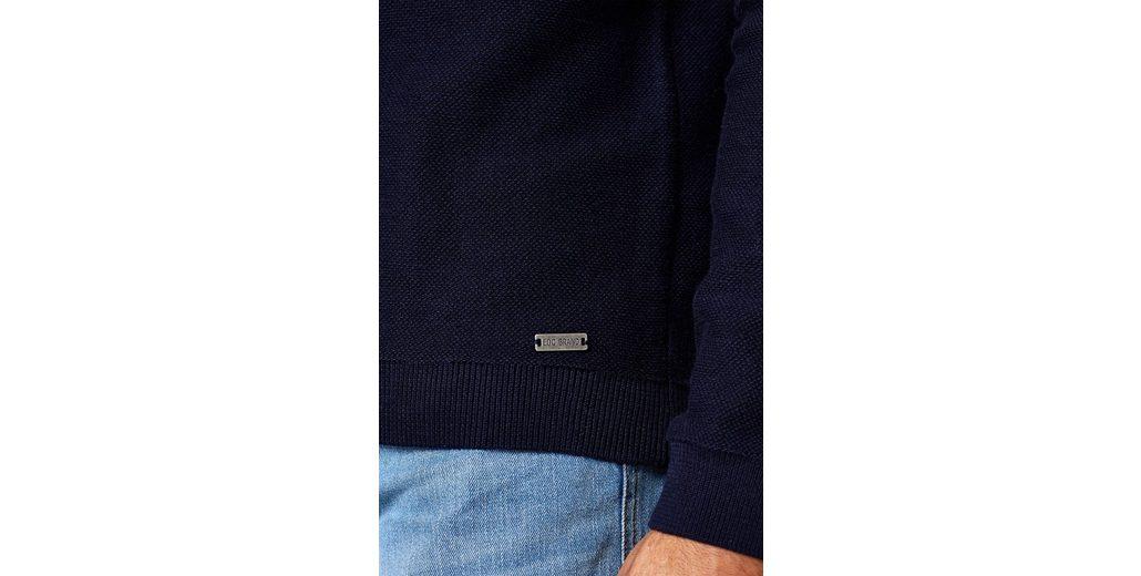 EDC BY ESPRIT Sweater im Streifen-Look, aus reiner Baumwolle