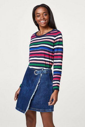 ESPRIT Leichter Baumwoll-Pullover mit Glitzer-Intarsie