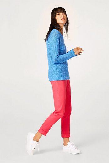 ESPRIT Bouclé-Pullover in tollen Trendfarben