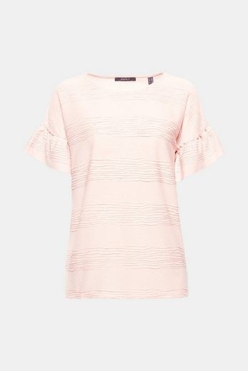 Esprit Collection Shirt With Structure-curl And Wing Sleeves