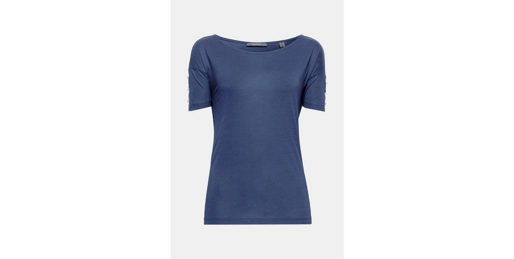 Anschmiegsames COLLECTION Dekor ESPRIT Shirt ESPRIT mit COLLECTION Perlen gwOtE
