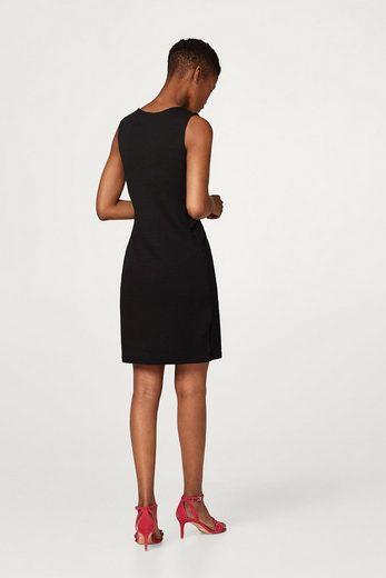ESPRIT Strukturiertes Kleid mit Wickel-Effekt
