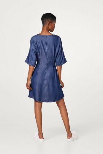 ESPRIT Kleid aus fließendem Lyocell