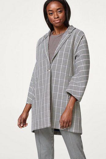 ESPRIT Kimono-Mantel mit Glencheck-Karo