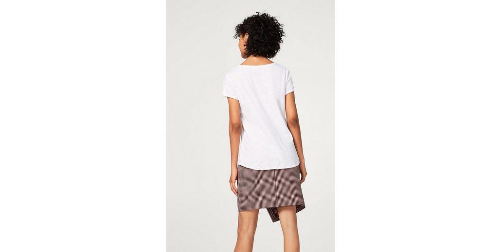 EDC BY ESPRIT Slub-T-Shirt mit Print, Organic Cotton