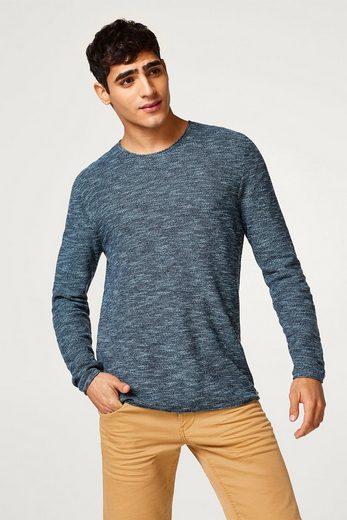 EDC BY ESPRIT Strick-Sweater aus reiner Baumwolle