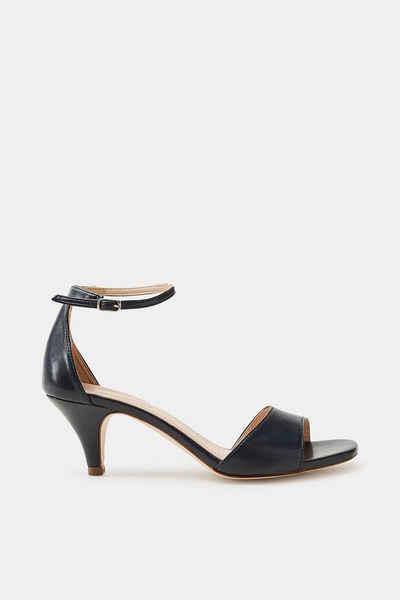Esprit Sandalette in strukturierter Leder-Optik für Damen, Größe 39, Silver