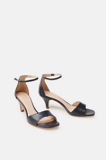 ESPRIT Sandalette in glatter Leder-Optik