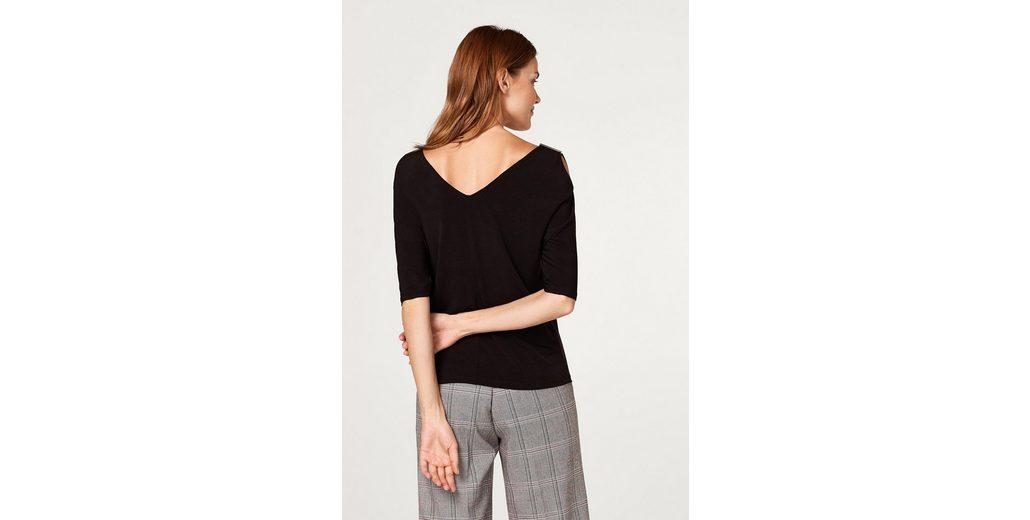 Billig Authentisch Auslass ESPRIT COLLECTION Cold-Shoulder-Shirt aus Slinky/Stretch Rabatt 2018 Neueste wc5Gp27d
