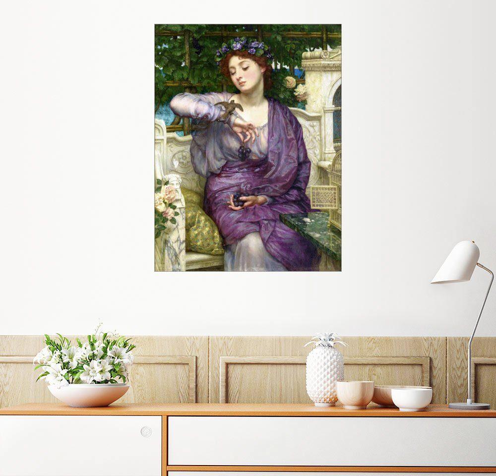Posterlounge Wandbild - Sir Edward John Poynter »Lesbia mit ihrem Spatzen«