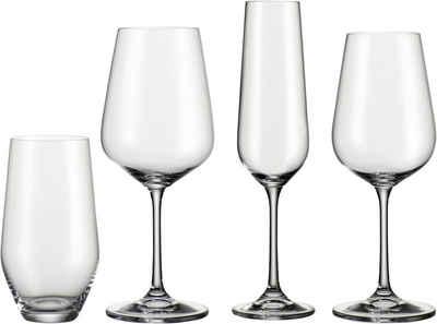 BOHEMIA SELECTION Gläser-Set, Kristallglas, 24-teilig