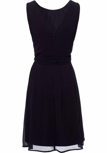 ESPRIT Collection Chiffonkleid, mit Bindeband