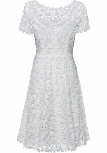 ESPRIT Collection Spitzenkleid, mit fixiertem Unterkleid