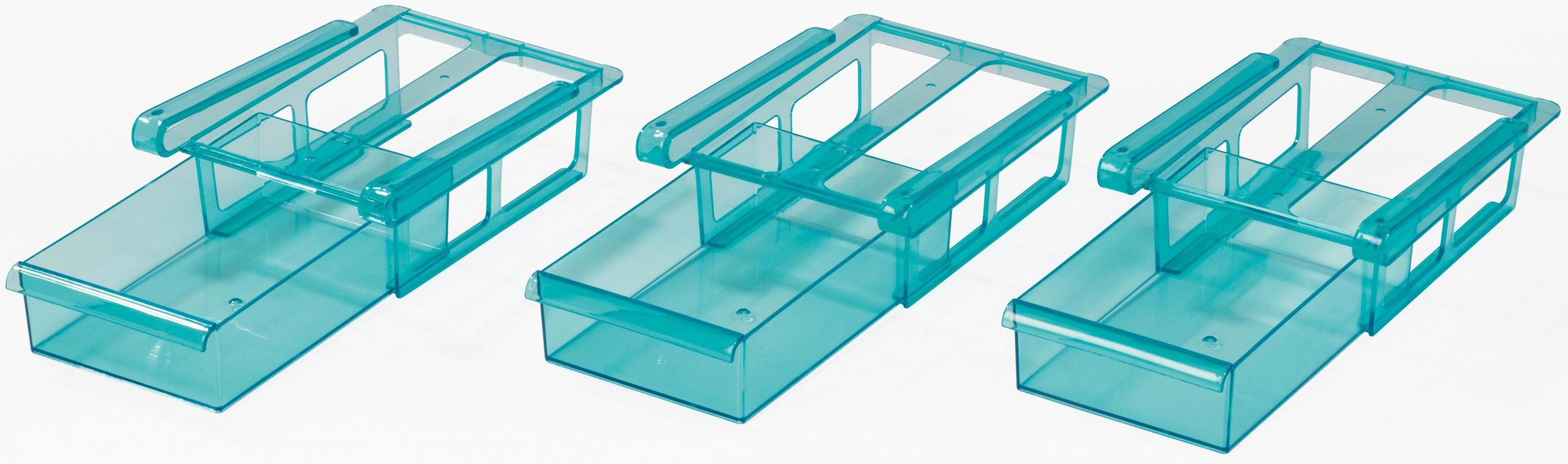 Gourmet®Maxx Klemm-Schublade für Kühlschrank, 3er-Set