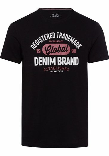 EDC by Esprit T-Shirt, mit Frontprint