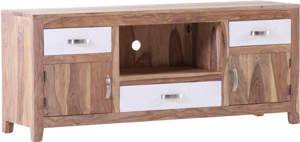 gutmann factory lowboard vienna mit 3 schubladen 2 holzt ren und 1 ablagefach breite 145 cm. Black Bedroom Furniture Sets. Home Design Ideas