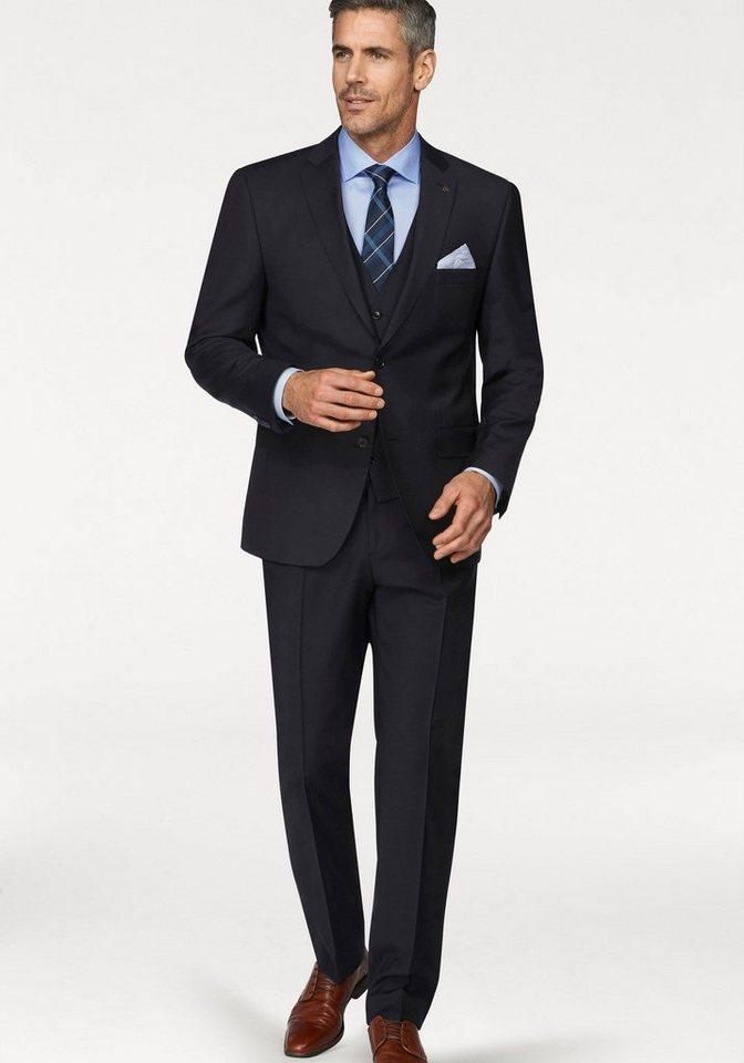 Herren Roy Robson Anzug »Regular-fit« (2-tlg) Regular Fit- Form, aus reiner Schurwolle blau, grau, schwarz   04036079666676