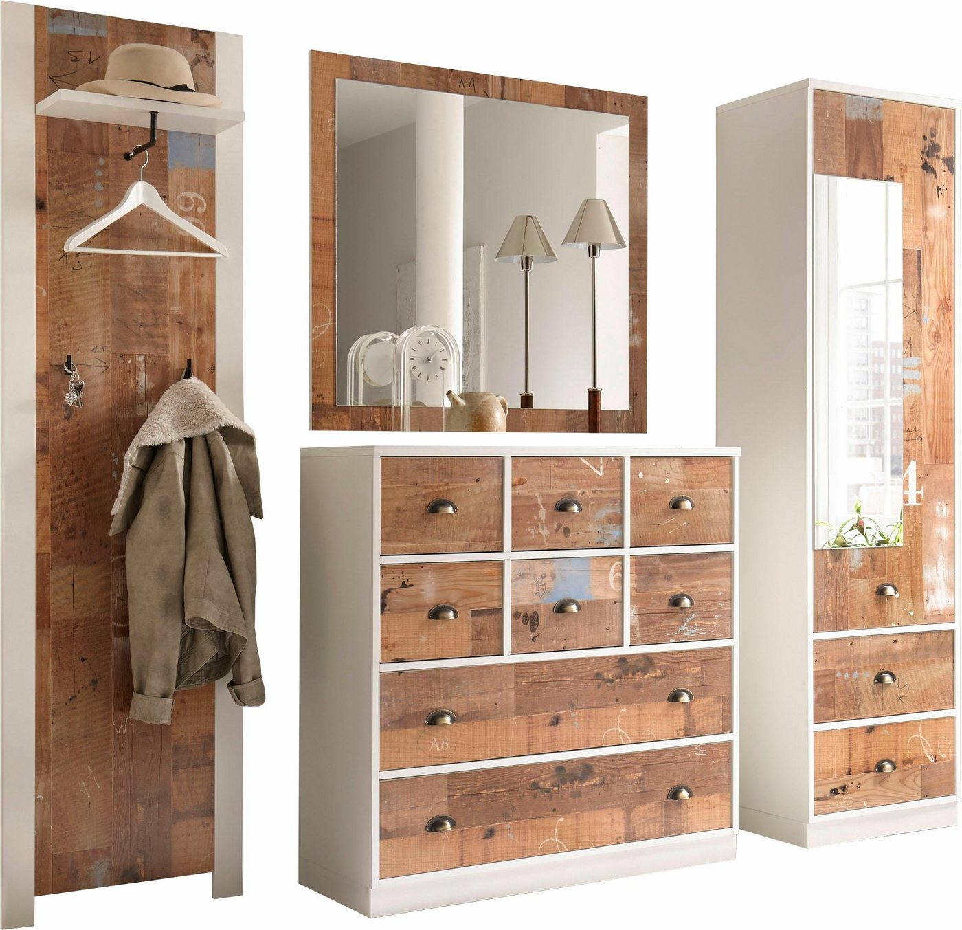 garderobe antik weiss sonstige machen sie den. Black Bedroom Furniture Sets. Home Design Ideas