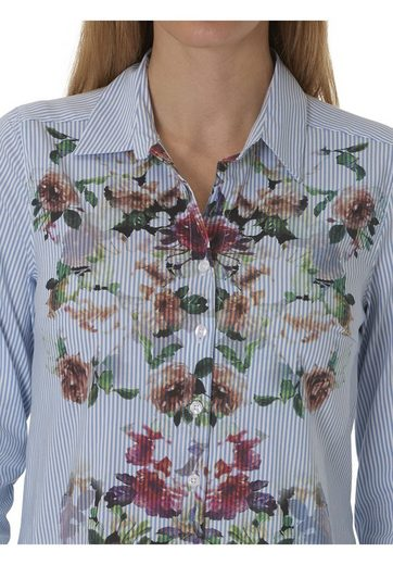 Betty Barclay Hemdbluse mit Streifen und Blumenprint