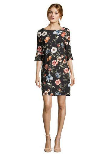 Cartoon Kleid mit trendigen Blumenprint