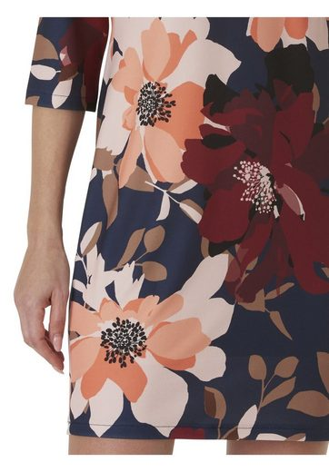 Cartoon Kleid im trendigen Blumenprint